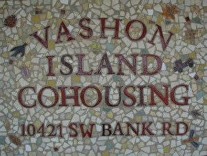 Vashon cohousing sign